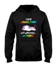 UnicornHate Morning People Hooded Sweatshirt front