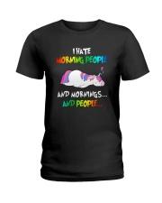 UnicornHate Morning People Ladies T-Shirt thumbnail