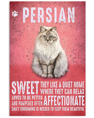 Persian Cat Vintage Poster
