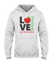 Teacher - Love - Preschool Hooded Sweatshirt front