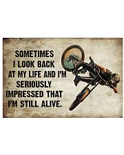 CYCLING SOMETIMES I LOOK BACK ON MY LIFE 24x16 Poster front