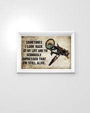 CYCLING SOMETIMES I LOOK BACK ON MY LIFE 24x16 Poster poster-landscape-24x16-lifestyle-02