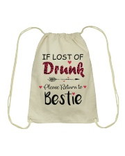 Wine If Lost Of Drunk Drawstring Bag thumbnail
