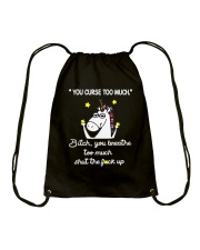 You Curse Too Much  Drawstring Bag thumbnail