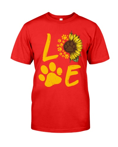 Dog Love Sunflower