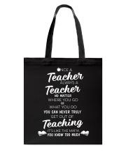 Teacher Once A Teacher Tote Bag thumbnail
