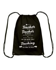 Teacher Once A Teacher Drawstring Bag thumbnail