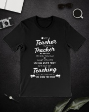 Teacher Once A Teacher Classic T-Shirt lifestyle-mens-crewneck-front-16