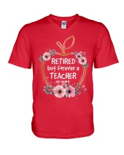 Teacher Retired But V-Neck T-Shirt front