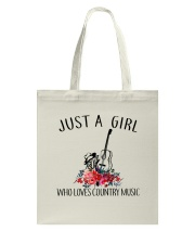 Country Music - Just A Girl Tote Bag thumbnail