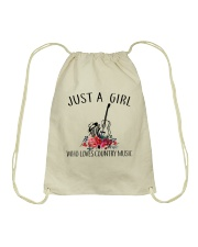 Country Music - Just A Girl Drawstring Bag thumbnail