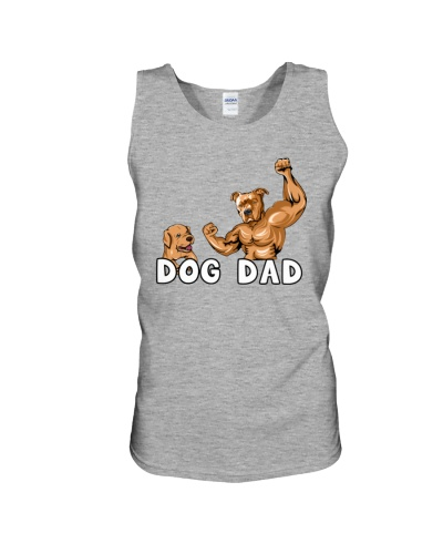 Pitbull Gold Cool Powerful Dog Dad