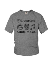If It Involves Music Youth T-Shirt thumbnail