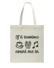 If It Involves Music Tote Bag tile
