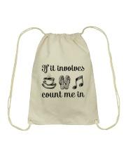 If It Involves Music Drawstring Bag thumbnail