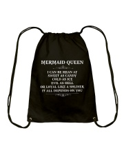 I'm a mermaid queen Drawstring Bag thumbnail