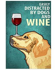 Golden Dog And Wine Vintage Poster 11x17 Poster front