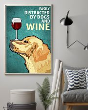 Golden Dog And Wine Vintage Poster 11x17 Poster lifestyle-poster-1