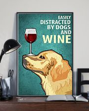 Golden Dog And Wine Vintage Poster 11x17 Poster lifestyle-poster-2