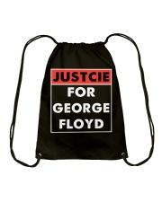 Justice for George Floyd Drawstring Bag thumbnail