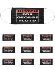 Justice for George Floyd Cloth Face Mask - 10 Pack thumbnail