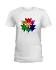 Live In Color - Tommy the Tomato Bat Line Ladies T-Shirt thumbnail