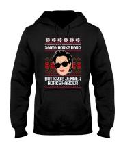 Kris Jenner Christmas sweater Hooded Sweatshirt thumbnail