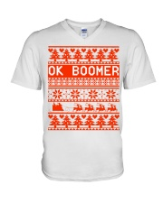 Ok Boomer Christmas sweater V-Neck T-Shirt thumbnail