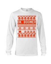 Ok Boomer Christmas sweater Long Sleeve Tee thumbnail