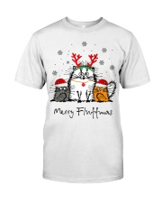 Cat Merry Fluffmas Christmas sweatshirt Classic T-Shirt front