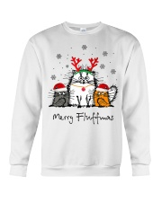 Cat Merry Fluffmas Christmas sweatshirt Crewneck Sweatshirt thumbnail