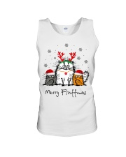 Cat Merry Fluffmas Christmas sweatshirt Unisex Tank thumbnail
