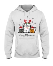 Cat Merry Fluffmas Christmas sweatshirt Hooded Sweatshirt thumbnail