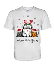 Cat Merry Fluffmas Christmas sweatshirt V-Neck T-Shirt thumbnail