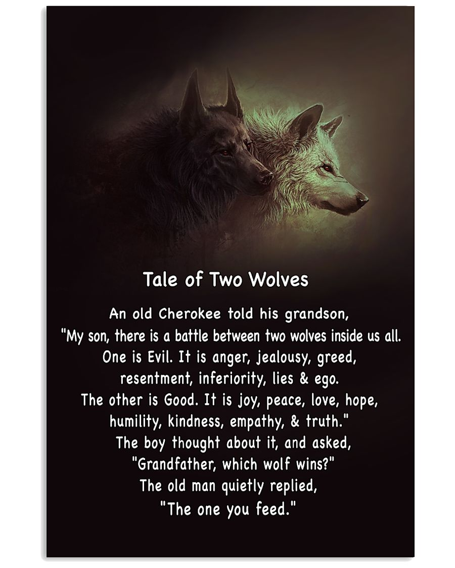 TALE OF TWO WOLVES 11x17 Poster