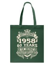 September 1958 Tote Bag tile