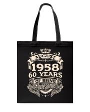 August-1958 Tote Bag tile
