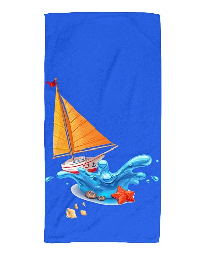 Shop Sailboat Beach Towel for seaside or Sailing