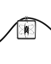 Atheist Pendant Cord  Necklace Cord Rectangle Necklace front