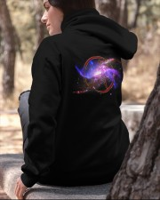 Atheist shirts -  Atheist Symbol - Universe  Hooded Sweatshirt apparel-hooded-sweatshirt-lifestyle-06