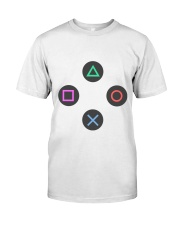 playing buttons design Classic T-Shirt thumbnail