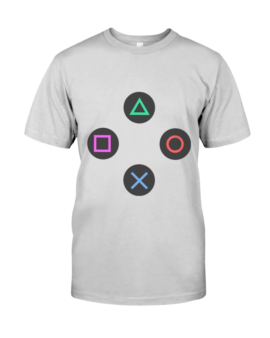 playing buttons design Premium Fit Mens Tee