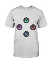 playing buttons design Premium Fit Mens Tee front