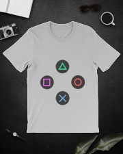 playing buttons design Premium Fit Mens Tee lifestyle-mens-crewneck-front-16