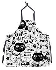 black cats meow Apron thumbnail