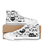 black cats meow Women's High Top White Shoes thumbnail