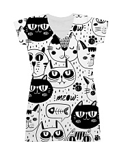 black cats meow All-over Dress thumbnail