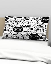 black cats meow Rectangular Pillowcase aos-pillow-rectangular-front-lifestyle-01