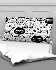 black cats meow Rectangular Pillowcase aos-pillow-rectangular-front-lifestyle-03
