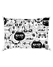 black cats meow Rectangular Pillowcase back